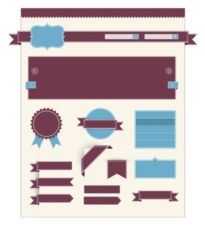 Retro web page navigation set Stock Vector - 19605666