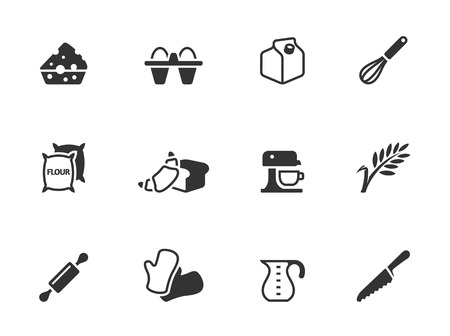 Baking icons in single color  EPS 10   Vector