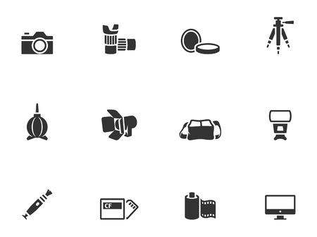 photography icons: Photography icons in single color  EPS 10