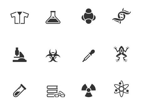 Science icons in single color  EPS 10   Vector