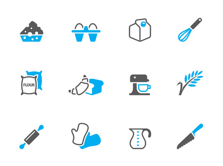 Baking icons in duo tone colors. EPS 10.  Vector