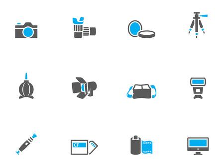 photography: Fotografie Symbole im Duo Klangfarben. EPS 10.