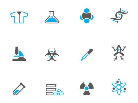neutrons: Iconos de la ciencia en colores de tono d�o. EPS 10.