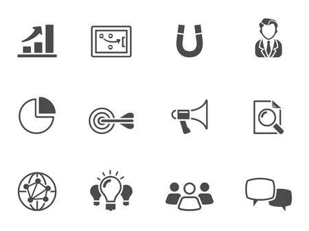 Marketing icons in single color. EPS 10.