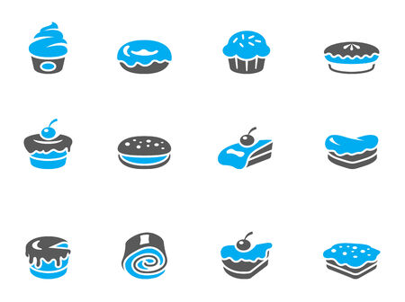 Cakes icons in duo tone colors. EPS 10.  Vector