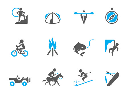 Outdoor icons in duo tone colors. EPS 10. Stock Vector - 23775240