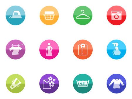 Wasserij pictogrammen in kleur cirkels