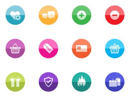 favorite colour: Ecommerce icon series in color circles   Font source   DejaVu Sans, Bitwise