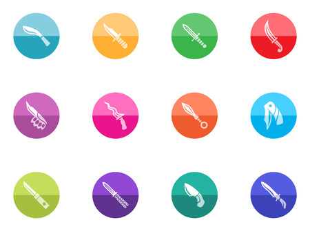 pocket knife: Knife icons in color circles