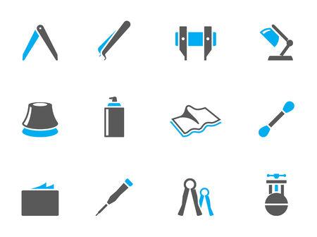 duo tone: Camera repair tool icons in duo tone colors
