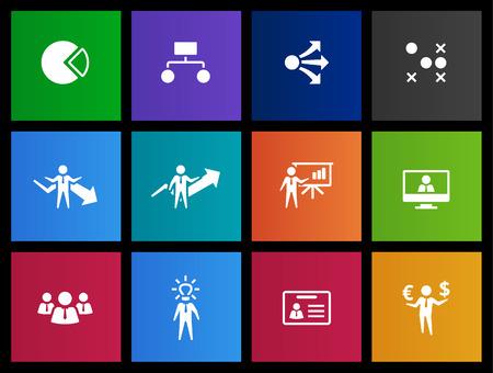 figura humana: Iconos de la gerencia en estilo Metro
