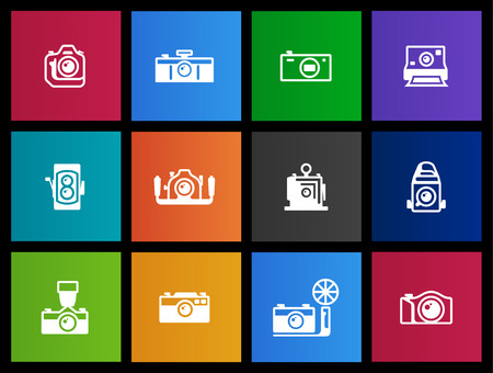 reflex camera: Camera icons series in Metro style
