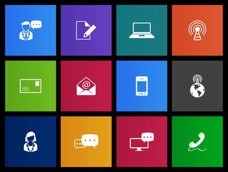 webinar: Communication icons series in Metro style