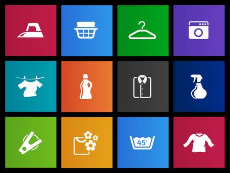 laundry hanger: Laundry icon series in Metro style