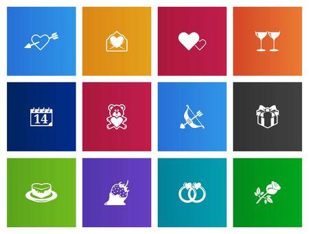 Wedding icon series in Metro style Vector