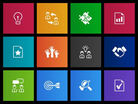 tecnolog�a informatica: Gesti�n de la serie del icono de estilo de Metro