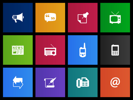 Communication icon series in Metro style Vector