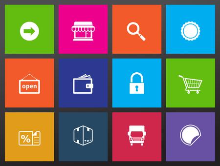 Ecommerce icon series in Metro style