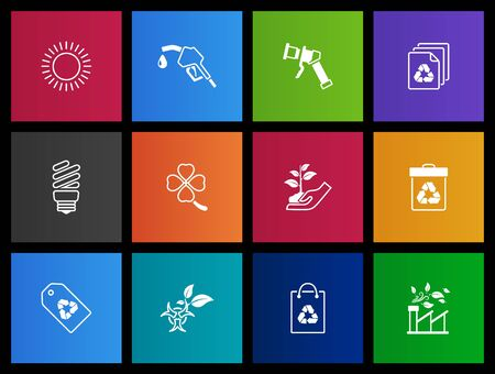 Environtment icon series in Metro style Vector