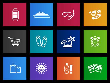 sun block: Travel icon series in Metro style