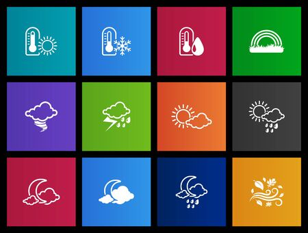 Weather icon series in Metro style Vector