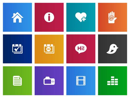 home video: Universal icon  icon series in Metro style for personal website