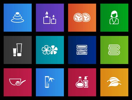 Beauty spa  icon series in Metro style