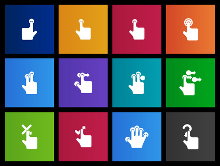 Touchpad gestures  icon series in Metro style Vector