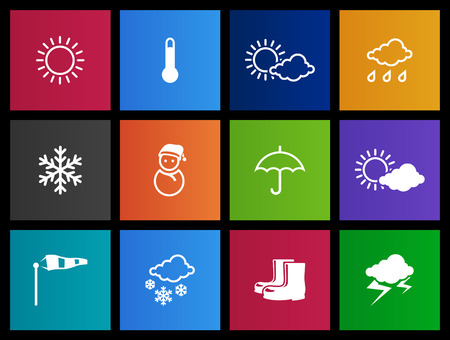 hailstorm: Weather related icon series in Metro style Illustration