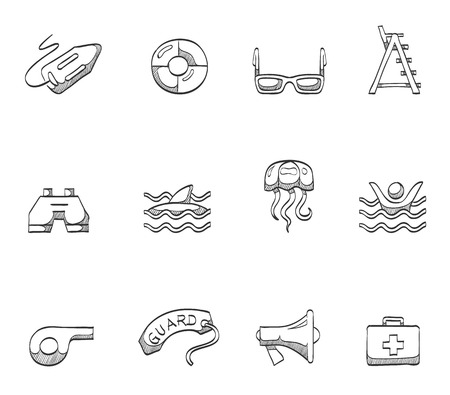 beware: Lifeguards icon series hand drawn sketches