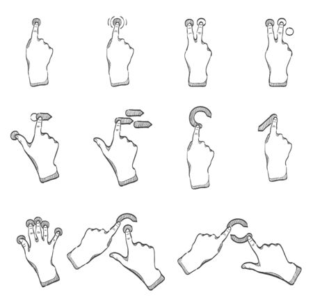 Touchpad gestures  in sketches Vector