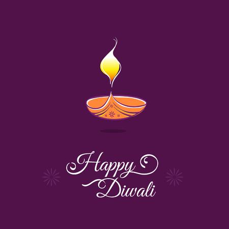 festival of lights: Diwali greeting card template. Happy Deepavali Indian festival lights
