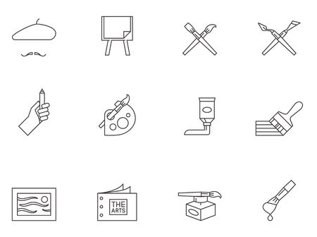 Artist icons in thin outlines.