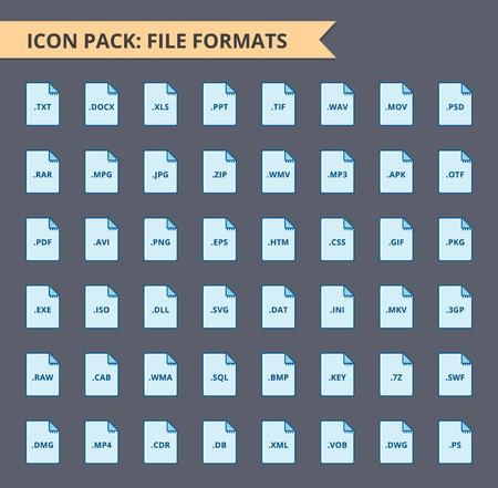 ファイル形式アイコンのセットです。