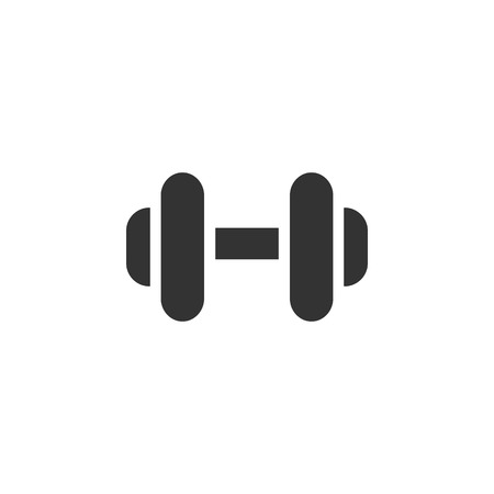 exercise equipment: Dumbbell icon in single color. Sport gym equipment weight lifting hand exercise