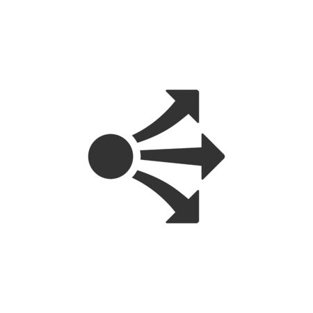 Propagate arrows icon in single color. Business management human resources administration