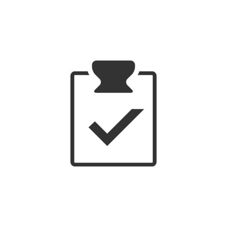 technology agreement: Checklist icon in single grey color. Office report information