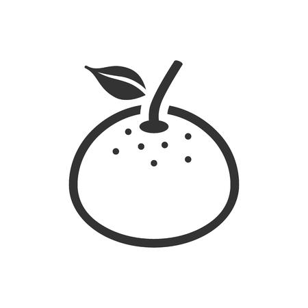 diet food: Orange icon in single color. Food fruit vitamin healthy diet