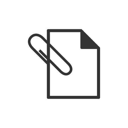 attach: icono del archivo adjunto en un solo color. La comunicación por Internet mensaje de correo electrónico adjuntar