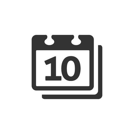 icono de calendario en el color gris única. Organizador de eventos calendario recordatorio