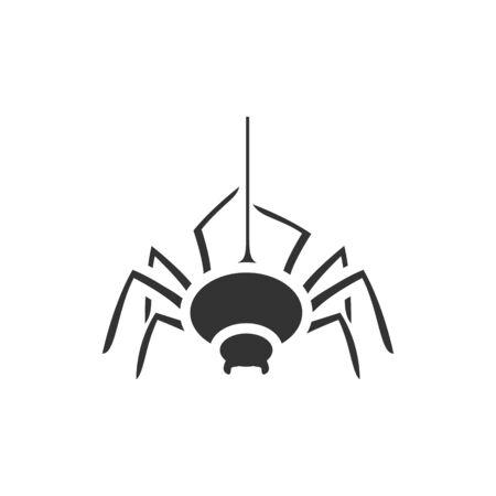 Spider icon in single color. Animal arachnid spooky Helloween Illustration
