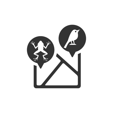 Zoo map icon in single grey color.