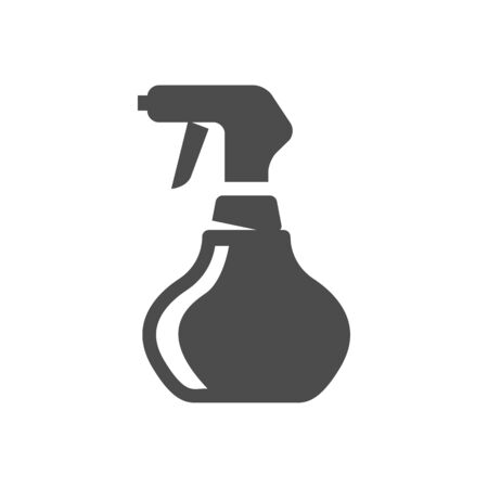 cleanliness: Sprayer icon in single grey color. Laundry cleaning fragrance perfume scent aromatheraphy Illustration