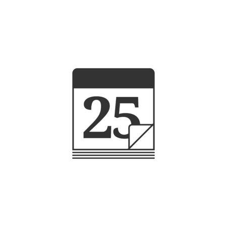calendar icon: Calendar Christmas icon in single color. Reminder holiday celebration event season greeting Illustration