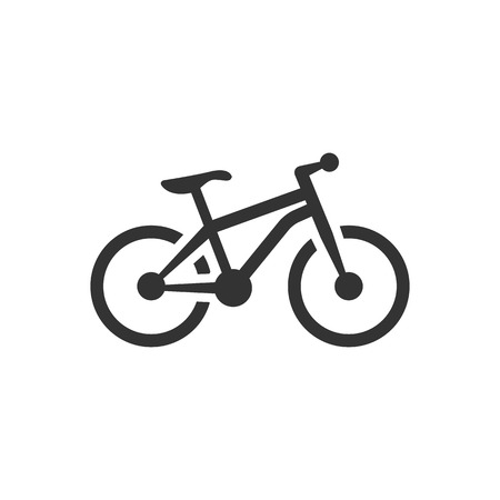 Mountain bike icon in single color. Sport transportation explore distance endurance bicycle