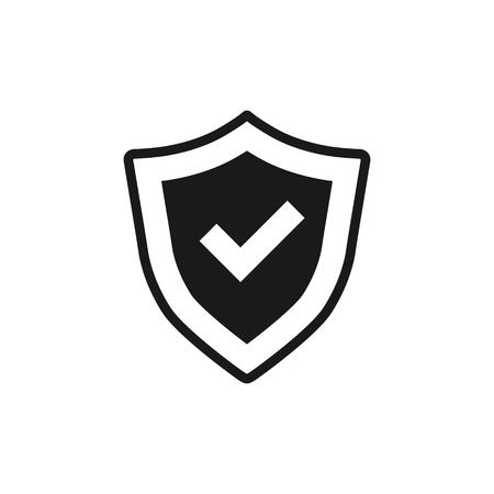 royal: Shield icon in single grey color. Protection, computer virus, antivirus