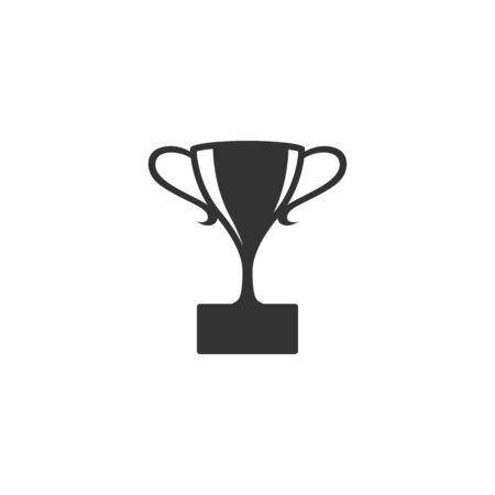 prize winner: Trophy icon in single color. Winner champion prize honor celeration cup gold bronze