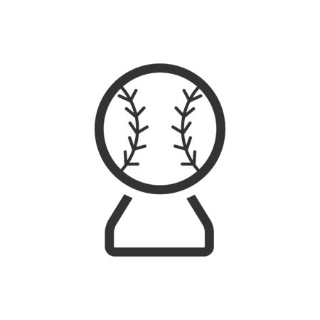 prize winner: Baseball trophy icon in single color. Sport champion winner team prize