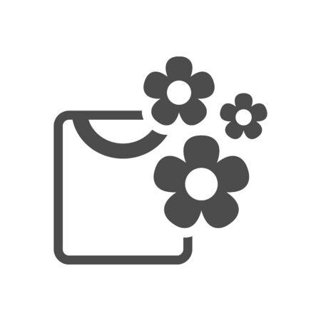 Icono de camisa plegada en color gris único. Limpieza de lavandería fragancia flor