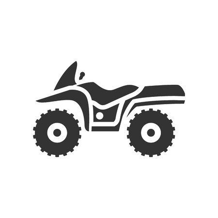 extreme terrain: All terrain vehicle icon in single color. Rally offroad desert extreme sport outdoor